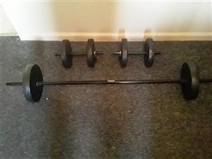 Brand new weight equipment set