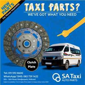 NEW Clutch Plate suitable for Nissan NV350 Impendulo - SA Taxi Auto Parts quality spares