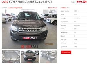 freelander engine in Cars in South Africa   Junk Mail