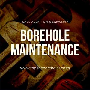 Borehole maintenance by experienced professionals Topline Boreholes in Gauteng