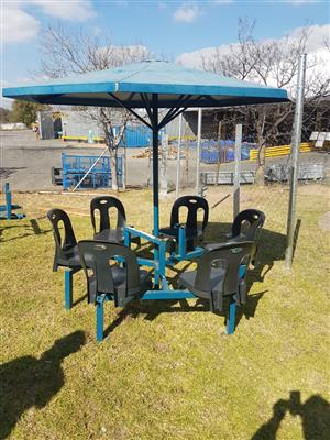 6 seater umbrella patio set