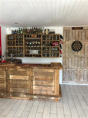 Authentic custom made pallet furniture.