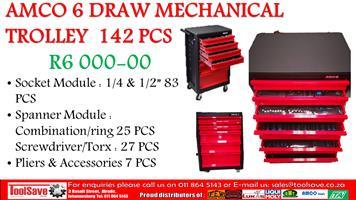 AMCO 6 DRAW MECHANICAL TROLLEY  142 PCS