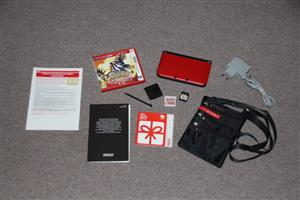 Nintendo 3DS XL red and black console