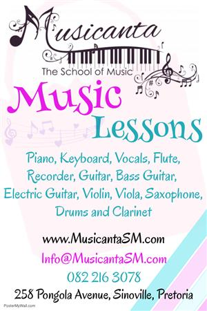 Piano and other music lessons at Musicanta - The School of Music