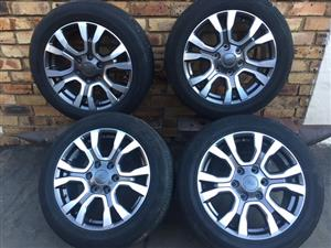 """Ford Ranger Mags with Tyres 18"""" 6 hole"""