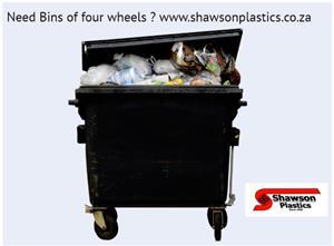 Wheelie bin 660 litre and 1100 litre for sale.