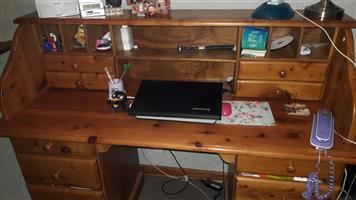 Pine desk - cottage style