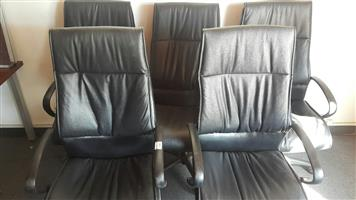 Highback leather chairs