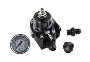 AN8 High Pressure Fuel Regulator w/ boost -8AN 8/8/6 - Fuel Pressure Regulator with gauge - 1-75 psi