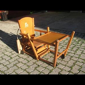 Low wooden feeding chair for sale