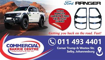 ford ranger tail lamp guard carbon fibre 2012-