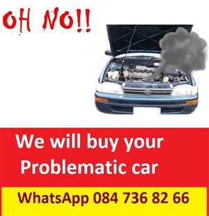 We Buy Accident damaged and non running Vehicles