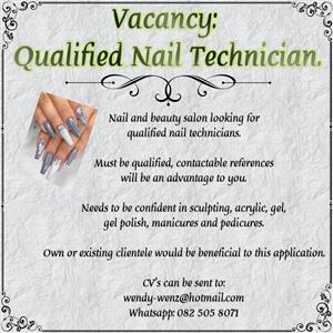 Nail Technicians needed.