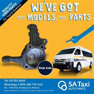 Stub Axle suitable for Toyota Quantum - SA Taxi Auto Parts quality used spares