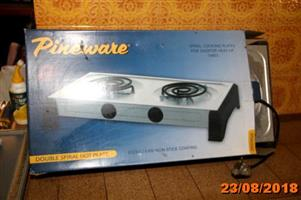 2 Plate Pineware stove for sale