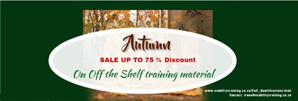 Autumn Training Material Discount - 2019