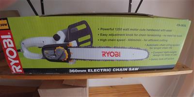 RYOBI ELECTRIC CHAIN SAW 1250 WATT