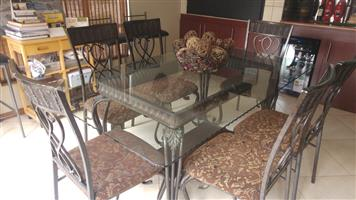 Wrought Iron Dining Table Set for Sale