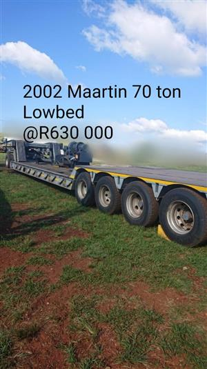 Maartin 70 ton Lowbed