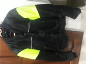 Mens Biker Jacket XL Black (Green/White) R 250 onco