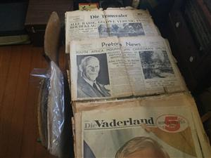 For sale antique newspapers