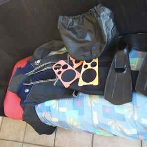 wetsuit with accessories