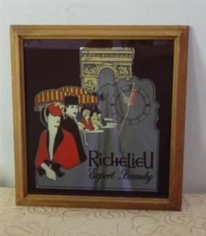 Richelieu brandy wall clock