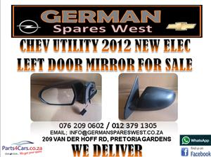 CHEV UTILITY 2012 NEW ELEC LEFT DOOR MIRROR FOR SALE