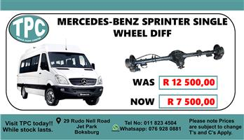 Mercedes-Benz Sprinter Single Wheel Diff - For Sale at TPC