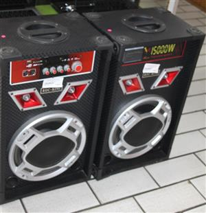 2 x Rocking active loud speakers S031712A #Rosettenvillepawnshop