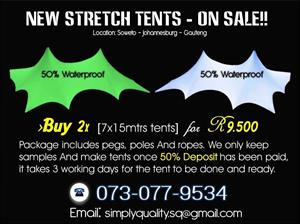 STRETCH TENTS - PACKAGE SPECIAL