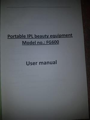 Laser hair removal (IPL) machine for sale