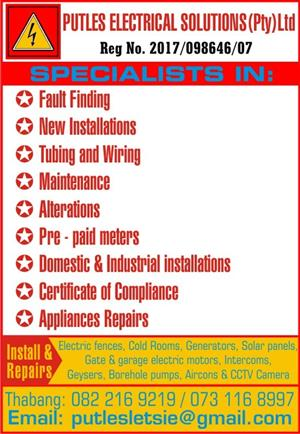 Appliance repairs and electrical services