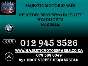 MERCEDES W203 FACE LIFT HEADLIGHTS FOR SALE