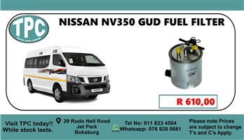 Nissan NV350 GUD Fuel Filter - For Sale at TPC.