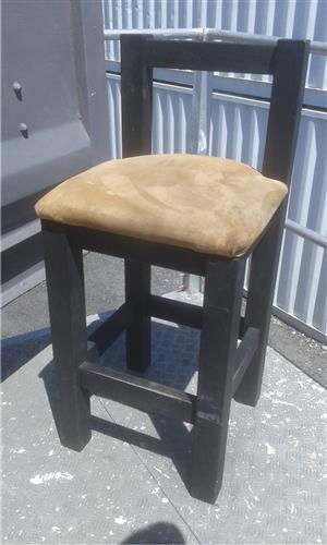 2 Solid Wood Bar Chairs - Price is for both