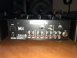Numark M4 mixer and Sennheiser HD 205 headphone combo