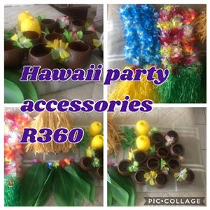 Hawaii party accessories
