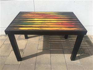 Rustic wooden patio table for sale