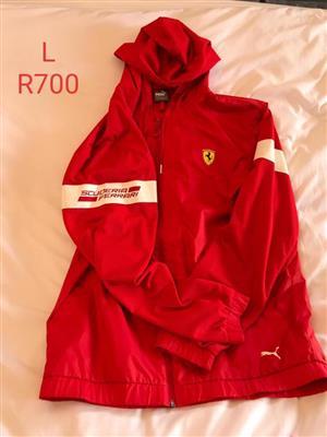 Large red Ferrari jacket for sale