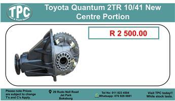 Toyota Quantum 2Tr 10/41 New Centre Portion.