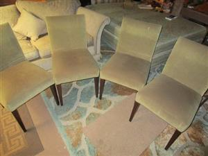 4 DINING CHAIRS,,, SUEDE ,,, GOOD CONDITION