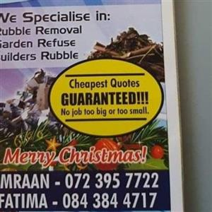 rubble removal garden refuse house junk removal services call 0723957722
