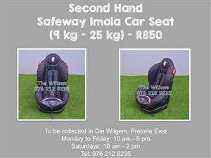 Second Hand Safeway Cutie Girl Car Seat (9 kg - 25 kg)