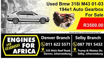 Used Bmw 318i M43 194e1 01-03 Auto Gearbox For Sale