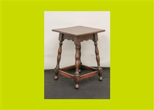 Vintage Oak Side Table - SKU 739