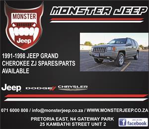Jeep Grand Cherokee ZJ Spares / Parts
