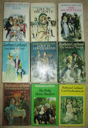 First Edition Barbara Cartland books x 9