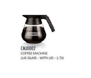 COFFEE MACHINE JUG GLASS - WITH LID - 1.7Lt-CMJ0002